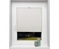 Plicell Parrot Kırık Beyaz Cam Balkon Perdesi - Plise Perde