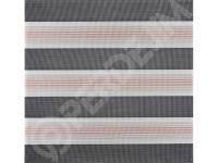 Zebra Perde Pudra Beyaz Geçişli Dar Pliseli