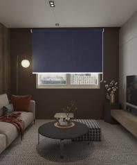 Anthracite Silvery Panama Roller Blind