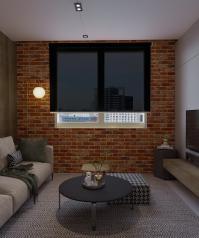 Black Screen Roller Blind - Roller Blind for Office - Sun Screen Curtain